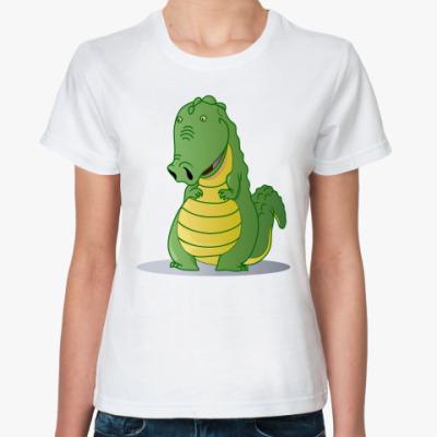 Классическая футболка крокодильчик