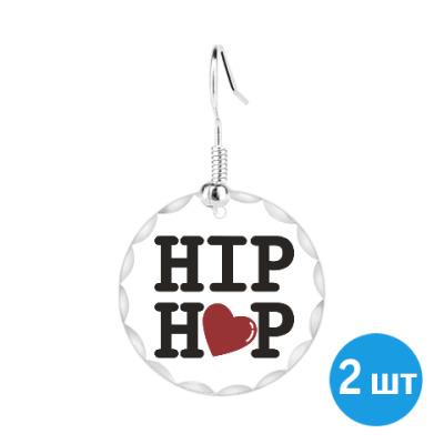 Серьги Люблю хип-хоп