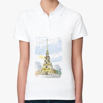 Женская рубашка поло Петропавловская крепость