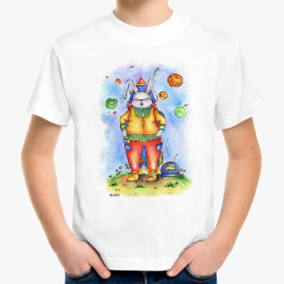 Детская футболка Кролик отправляется в космос