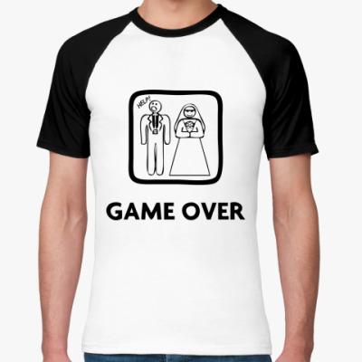 Футболка реглан Game Over. HELP!