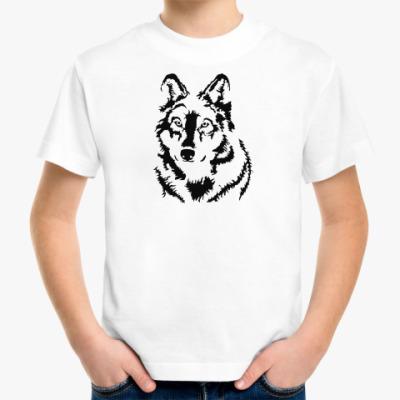 Детская футболка Белый волк