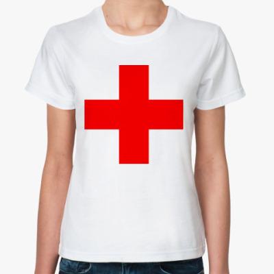 Классическая футболка  Красный крест