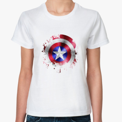 Классическая футболка Капитан Америка (Мстители)