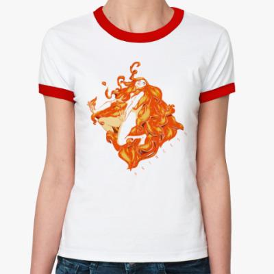 Женская футболка Ringer-T Огненная ведьма