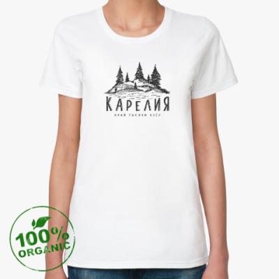 Женская футболка из органик-хлопка Карелия
