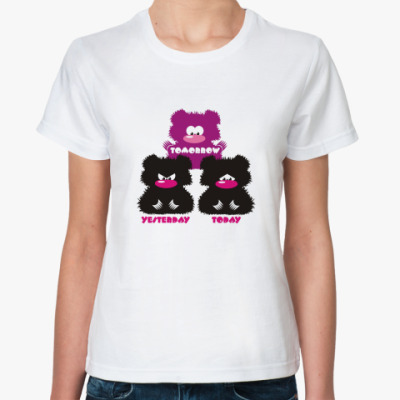 Классическая футболка Жен. футболка Мишки Тедди