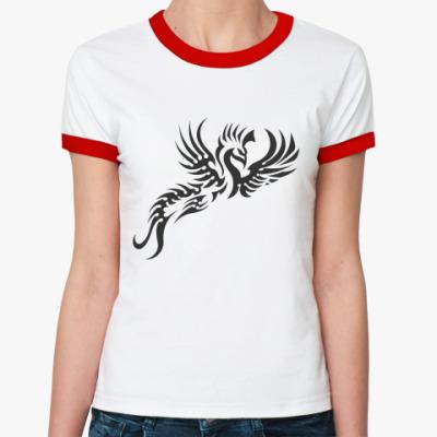 Женская футболка Ringer-T Жар-птица