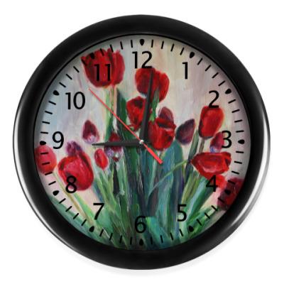 Настенные часы 'Запах тюльпанов'