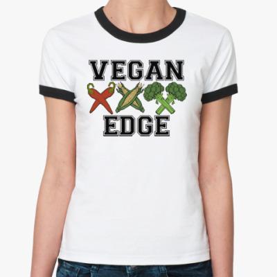 Женская футболка Ringer-T vegan XXX edge