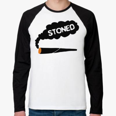 Футболка реглан с длинным рукавом stoned