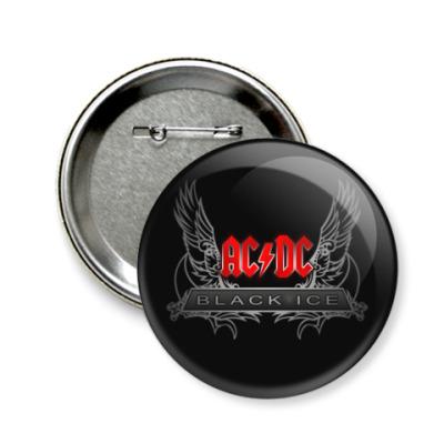 Значок 58мм AC/DC