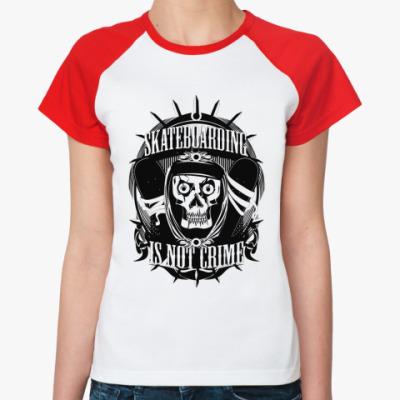 Женская футболка реглан Skate   Ж(б/кр)