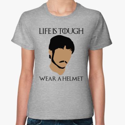 Женская футболка  Wear a helmet