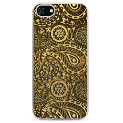 Чехол для iPhone Золотой узор Пейсли