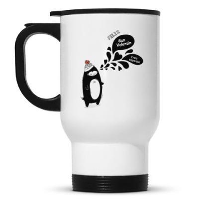 Кружка-термос Влюбленный пингвин
