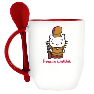 Кружка с ложкой Hawwo Wabbit