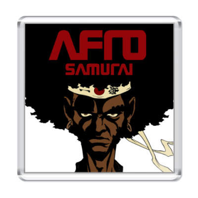 Магнит  афро самурай