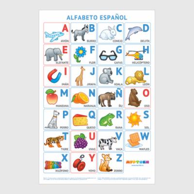 Постер Испанский алфавит Муртики
