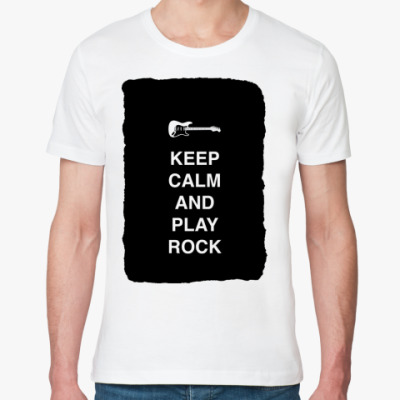 Футболка из органик-хлопка Keep calm and play rock