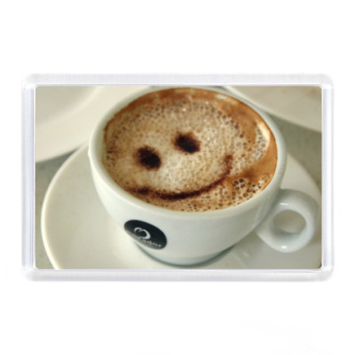 Магнит  Кофе со смайлом