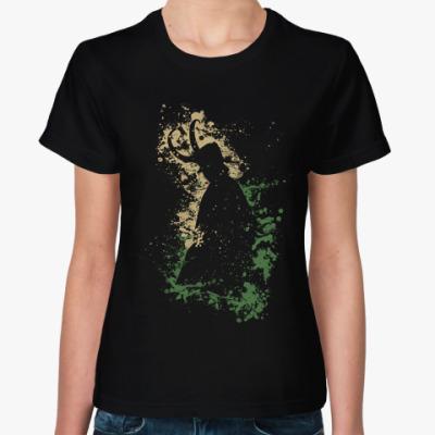 Женская футболка Локи