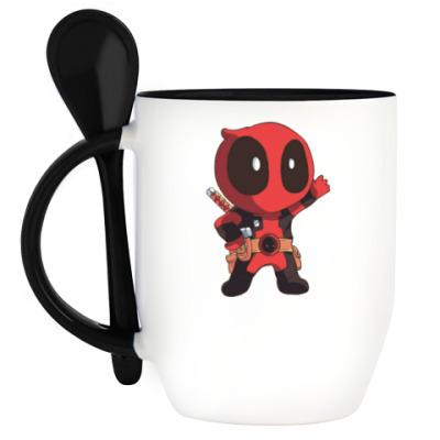 Кружка с ложкой Deadpool