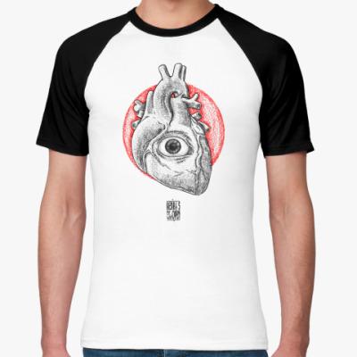 Футболка реглан  heart's eye