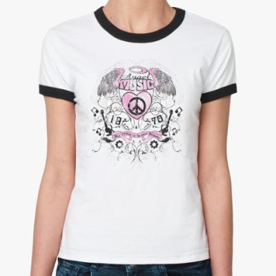 Женская футболка Ringer-T Angel music