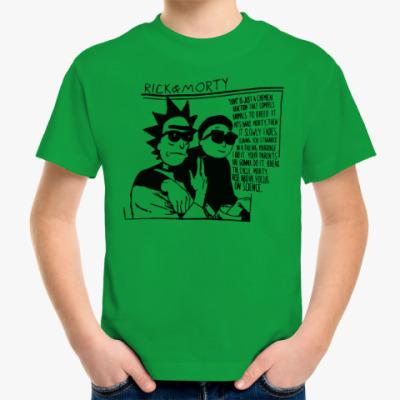 Детская футболка Рик и Морти Sonic