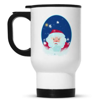 Кружка-термос Дед Мороз и овечка