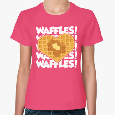 Женская футболка Вафельки