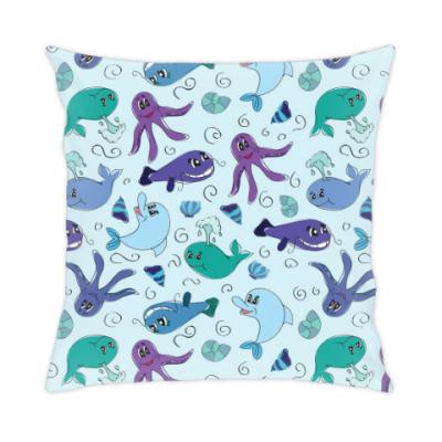Подушка Морская жизнь