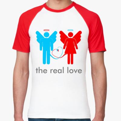 Футболка реглан The real love