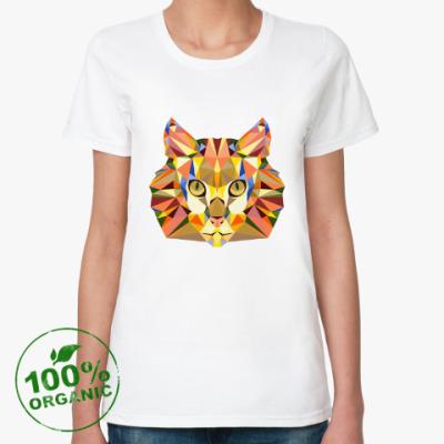 Женская футболка из органик-хлопка Рыжий кот