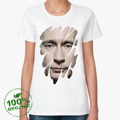 Женская футболка из органик-хлопка Лик Путина