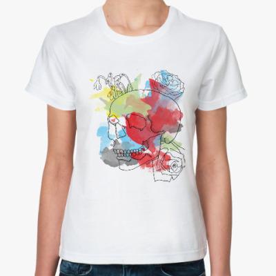Классическая футболка Февральский череп