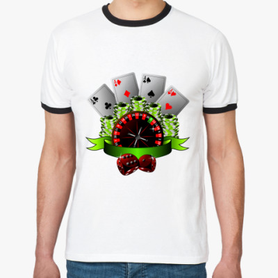 Футболка Ringer-T Casino Style