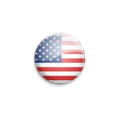Значок 25мм USA