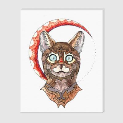 Холст Бенгальский кот