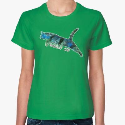 Женская футболка Галактический кот