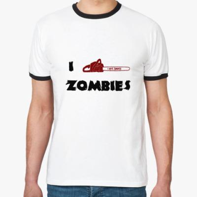 Футболка Ringer-T I Kill Zombies