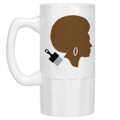 Пивная кружка Afro Lady