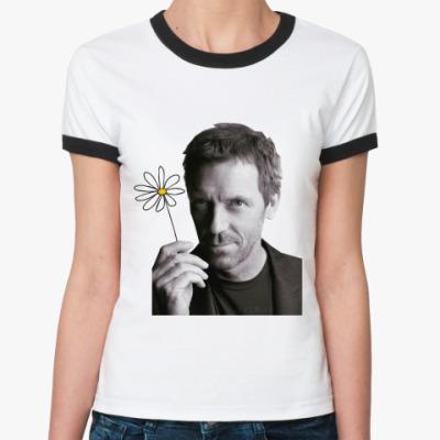 Женская футболка Ringer-T Хаус хороший