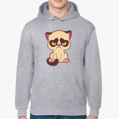 Толстовка худи Недовольный котенок