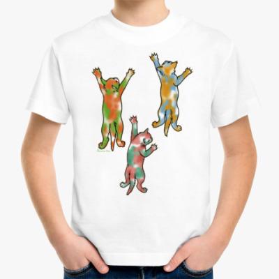 Детская футболка Разноцветные котята