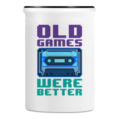 Подставка для ручек и карандашей Oldschool games were better