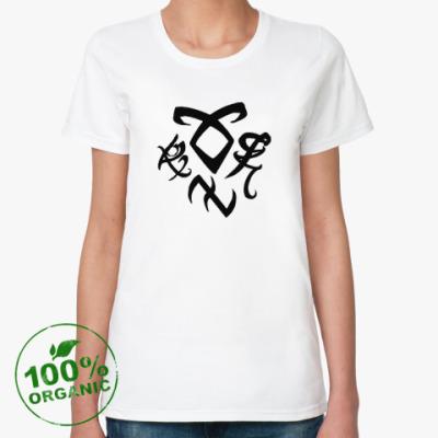 Женская футболка из органик-хлопка Руны