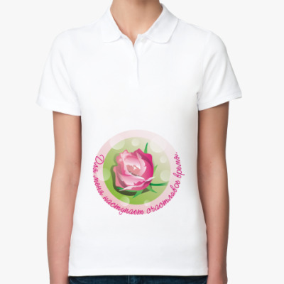 Женская рубашка поло Беременность-счастливое время!