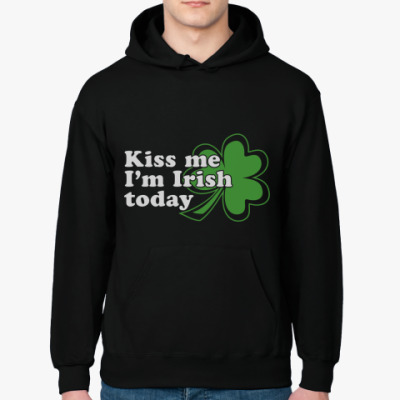 Толстовка худи 'Kiss me, today Patrick day'